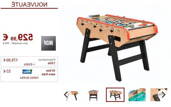 baby foot table multi jeux